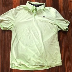 Green Under Armour shirt. Size Large